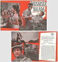 BALLAD OF A HUSSAR - GUSARSKAYA BALLADA Original MINT EXYU Movie Program 1962