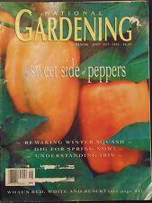National Gardening Magazine sweet side of peppers 1993 winter squash iris