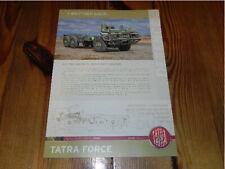 TATRA Force Truck T815-7T3B31 6x6.1R Militär Military Vehicles brochure prospekt
