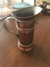 Antique 1900s French SIGNED GOADERE Copper Haystack Water Pitcher Jug