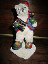 Hiking Polar Bear With Backpack and Binoculars Christmas Figurine