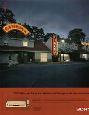 Publicité 1999  SONY DVD vidéo le DVP-S7700 de sony