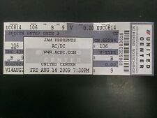 AC/DC Ticket 8/14/2009 United Center Chicago LAST ONE IN STOCK!
