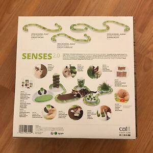 NIB Catit Senses 2.0 Play Circuit Interactive Cat Play Track Ball Toy