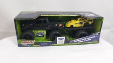Buddy L Monster Wheel Tow Team Black For Truck W/ Yellow Car