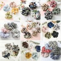 Women Elastic Hair Rope Ring Tie Scrunchie Ponytail Holder Flower Hair Band
