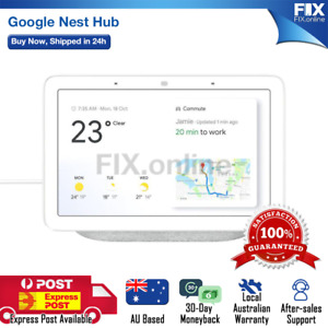 Google Home Nest Hub Smart Display & Home Assistant Chalk / Charcoal [Au Stock]