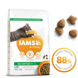 IAMS for Vitality Adult Ocean Fish Dry Cat Food High Animal Protein Content 10kg