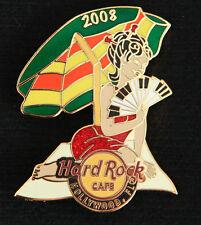 Hard Rock Cafe PIN Hollywood FL BEACH GIRL Umbrella Piano fan asian towel lapel