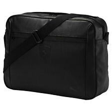 Puma Ferrari Lifestyle Reporter Bag Black Laptop Messenger Crossbody 075191_01