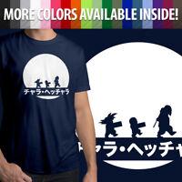Anime Master Roshi Goku Krillin Training Mens Tee Unisex Crew Neck T-Shirt