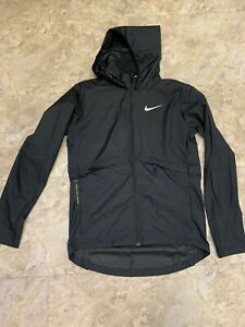 Nike Womens Essential Running Jacket Black Womens Xs Brand New