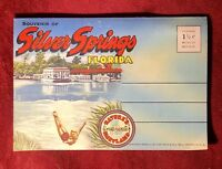Vintage Fold-Out Silver Springs Florida Postcard With 18 Images Unused (1947)