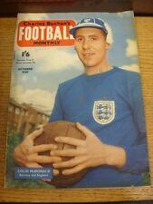 Oct-1958 Charles BUCHAN CALCIO mensile: No.86 - immagine di copertina (S) Colin McDonald