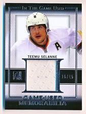 2016-17 ITG Used Teemu Selanne Game Used Memorabilia Jersey (16/45)
