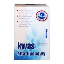 KWAS ALFA-LIPONOWY wspomaga układ nerwowy dla diabetyków cukrzyca 90 kaps.