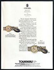 "1987 Concord Mens & Ladies Steel & Gold ""Saratoga"" Watch photo vintage print ad"