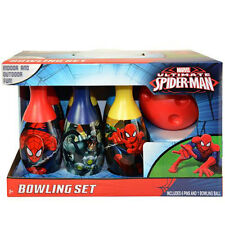 Bowling Play Set Marvel Spider-Man Kids 6 Pins 1 Ball Toy Birthday Xmas Gift