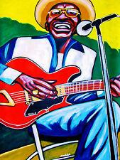 LIGHTNIN' HOPKINS PRINT poster texas blues masters cd guild guitar concert amp