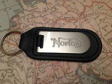 norton clé Bague aveugle gravé sur cuir