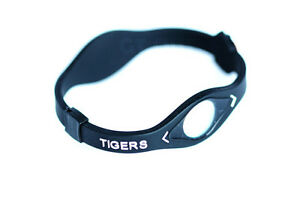 Tigers themed energy balance bracelet, expandable silicone, camo and black color