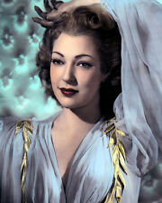 """JUNE DUPREZ ENGLISH ACTRESS HOLLYWOOD MOVIE STAR 8x10"""" HAND COLOR TINTED PHOTO"""