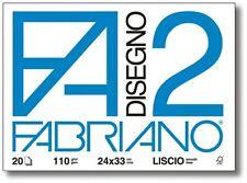 FABRIANO F2 Album da disegno, 4 angoli 110gr. 24x33cm. 16Fg. RUVIDO, Sketchbook