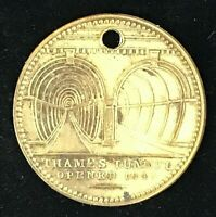 THAMES TUNNEL OPENED 1845 TOKEN W GRIFFIN CORNHILL LONDON ENGLAND