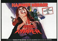 Hands of the Ripper - Hammer Horror - Eric Porter - A4 Laminated Mini Poster