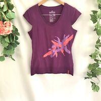 KATHMANDU Enact Womens Purple Organic Cotton Blend Short Sleeve Tshirt - 14