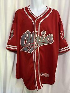 VTG Colosseum Ohio State University  Buckeyes Red Baseball Jersey SIZE XXL