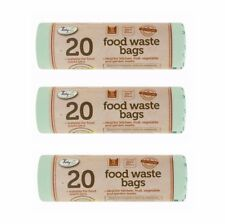 60x Compostable 5L Kitchen Caddy Biodegradable Food Garden Waste Bin Bags