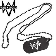 Watch dogs 2 ps xbox Aiden Pearce ded dog tag Necklace Pendant Chain Cosplay ♫