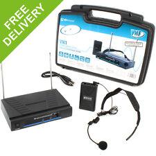 Single Headband Headset VHF Wireless DJ PA Instructor Microphone Mic System 50m