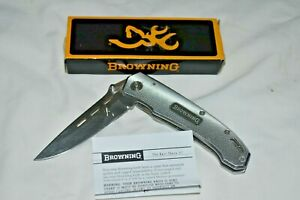 BROWNING TACTICAL II 931 Single Blade Folding KNIFE w Clip in Box