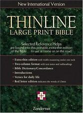 Thinline Large Print Bible, New International Version, English Zondervan Leather