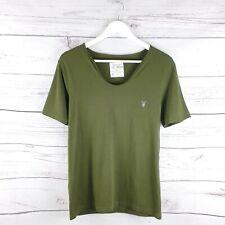 All Saints Mens Green Tonic Scoop Neck TShirt Top Size M Medium