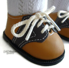 """Tan/Brown Saddle Shoes for 18"""" American Girl Doll Clothes Accessories"""