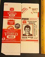 MEADOW GOLD 1986 CINCINNATI REDS PETE ROSE card uncut milk carton Pre Production