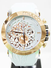 Mulco MW3-14067-413 Brand New L'Fleur Hortensia Ice Blue Silicon Chrono Watch