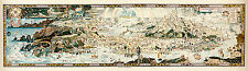 "An Anciente Mappe of Fairyland 1920 51"" x 14.9"" Vintage Map Art Print"