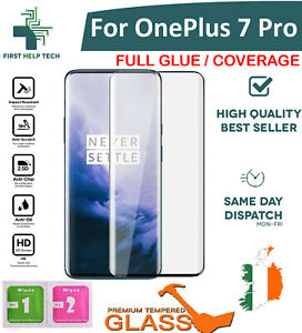 For OnePlus 7 Pro Tempered Glass 9D Curved Screen Protector Full Coverage New