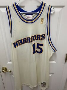 Vintage NWT Rare Latrell Sprewell Mitchell & Ness White Jersey Size 56