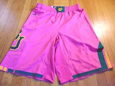 ADIDAS AUTHENTIC NCAA BAYLOR BEARS ALTERNATE PINK BASKETBALL GAME SHORTS XL+4""