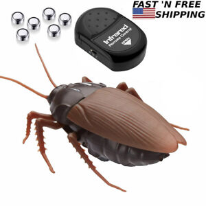 Remote Control Mock Fake Cockroach Insects Infrared RC Realistic Toy Prank Roach