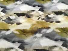 "Harlequin Curtain Fabric 'Minako"" 2m Gold / Charcoal - Velvet!"