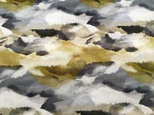 "Harlequin Curtain Fabric 'Minako"" 1m Gold / Charcoal - Velvet!"