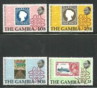 Album Treasures Gambia  Scott # 394-397  Sir Rowland Hill Mint NH