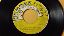 "DON NICKY&STEADY RANKS - HOT LIKE TWENTY FIRE SIDE /REGGAE 45"" SUDDEN ATTACK"