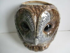 More details for fabulous large tawny owl wall vase/ plant pot by quail ceramics boxed ideal gift